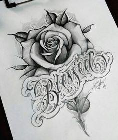 Rose Drawing Tattoo, Tattoo Design Drawings, Flower Tattoo Designs, Tattoo Sketches, Flower Tattoos, Cute Tattoos, Beautiful Tattoos, Body Art Tattoos, Hand Tattoos