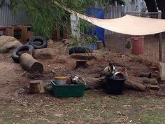 Mud pit for digging - specifically I like th logs of sitting and additional work surface.   Time tonfind more logs!  -lm
