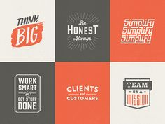 Core values logos by Brett Swihart