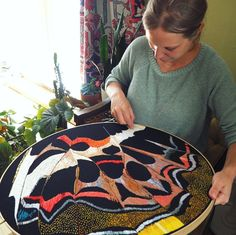 """Rabbit Hat Designs on Instagram: """"Latest giant macro embroidery in progress. This one is inspired by the agatasa calydonia butterfly wings. It's a 23 incher. It's taken me a…"""" Butterfly Wings, Take My, Artist At Work, Rabbit, Embroidery, Inspired, Hats, Instagram, Design"""