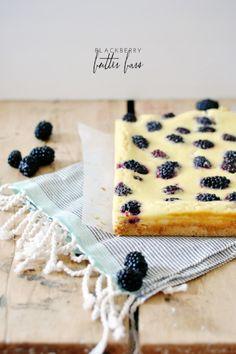 Blackberry Butter Bars | lark & linen
