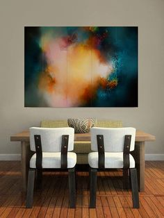 Large Canvas Abstract Cinqtych Painting por SimonkennysPaintings