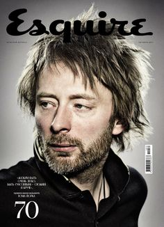 The quirky Thom Yorke of Radiohead .maker of incredible music Jonny Greenwood, Thom Yorke Radiohead, O Brian, We Will Rock You, Great Bands, Esquire, My Favorite Music, My Music, Beautiful Men