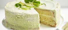 Gin and lime cake with gin syrup butter icing