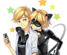Hermoso Chat Noir y Adrien!!!❤