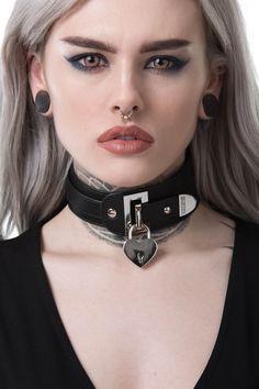 Gianna Choker [B] - Halsreifen - halskette Slave Collar, Collar And Leash, Collar And Cuff, Neck Collar, Fetish Fashion, Gothic Fashion, Steam Punk, Goth Beauty, Submissive