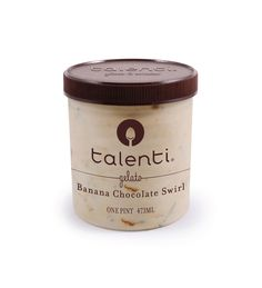 Talenti Banana Chocolate Swirl gelato. We started with rich banana gelato and added a ribbon of golden Argentine caramel and bittersweet chocolatey bits to balance it out. Consider it the best banana flambé that's never actually been on fire.