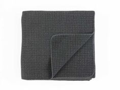 Havana Charcoal Quilted Bedspread - This modern charcoal quilted bedspread has a…