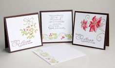 Stampin' Up! Christmas Blessings 3x3 Mini Card Set
