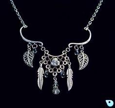 Boho necklace, feather necklace Boho jewelry, Bohemian jewelry, Native jewelry Tribal necklace, Dreamcatcher necklace, Prom Jewelry Necklace by CervelleDoiseau on Etsy