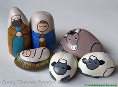 Christmas christmas nativity scene, painted rocks и kids nativity set. Pebble Painting, Pebble Art, Stone Painting, Rock Painting, Diy Painting, Kids Nativity Set, Nativity Crafts, Christmas Rock, Christmas Nativity Scene