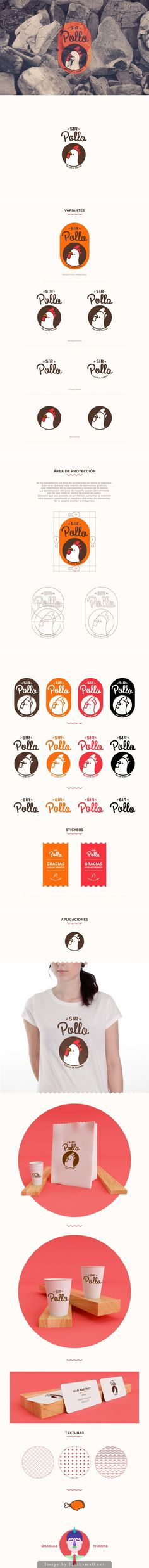 Here you go Jenny SIR POLLO by AARON MARTINEZ, via Behance has a cute logo on the packaging PD