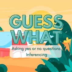 Boom Cards - Guess What: Asking and Inferencing Activity Occupational Therapy, Speech Therapy, Yes Or No Questions, Summer Activities, Have Fun, Deck, Author, Learning, Cards