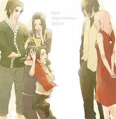 If Itachi still alive if all of sasuke family still alive maybe they'll be like this Anime Naruto, Naruto And Sasuke, Tenten Naruto, Sasuke Sakura Sarada, Naruhina, Naruto Shippuden Anime, Anime Manga, Narusaku, Naruto Gaiden