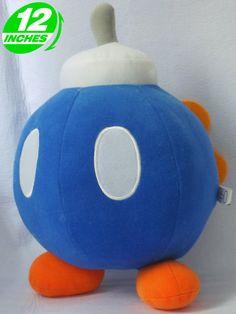 Super Mario Bros Bob-Omb Plush Doll Blue