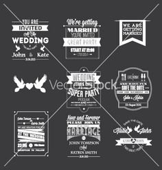 Set of wedding invitations vector template  by goodgraphic on VectorStock®