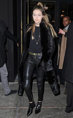 GIGI HADID The blonde beauty steps out in New York City wearing an all-black ensemble. #gigihadid #newyork #sightings