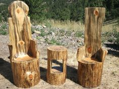 Furniture by chainsaw