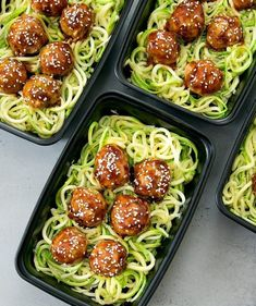 Asian Glazed Meatballs With Zucchini Noodles Meal Prep 14 Low-Carb Lunch Ideas Perfect For Bringing To Work Low Carb Lunch, Lunch Meal Prep, Easy Meal Prep, Healthy Meal Prep, Easy Healthy Recipes, Keto Recipes, Easy Meals, Cooking Recipes, Healthy Cold Lunches
