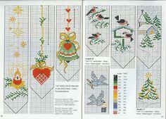 Holiday cross-stitch Bookmark patterns