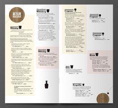 Bar menu on the Behance Network