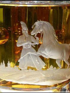 Detail - Les Grandes Ecuries - Musée du cheval - Coupe en verre de Bohème (August Böhm - 1840-50) by alainmichot93 (Bonjour à tous et Bonne année)