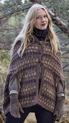 Ladies Cape knitted in Rowan Cocoon and Rowan Frost | Magazine 56