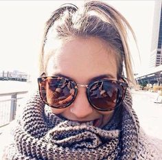 Sunglasses and Scarf
