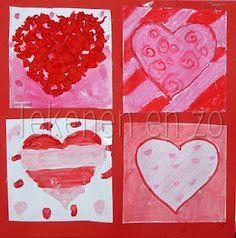 Tekenen en zo: Valentijnsharten (net als Jim Dine) Projects For Kids, Art Projects, Crafts For Kids, Arts And Crafts, Diy Crafts, Square One Art, Burton Morris, Mini Canvas Art, I Love Heart