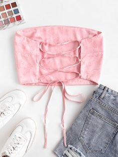 Cute Swag Outfits, Crop Top Outfits, Trendy Outfits, Girls Fashion Clothes, Winter Fashion Outfits, Cute Fashion, Korean Fashion Dress, Skirt Fashion, Diy Clothes Design