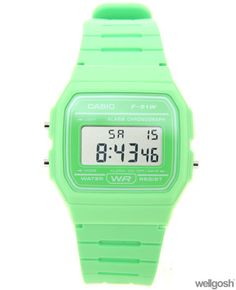 Casio F-91WC-3AEF Green