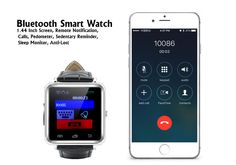 Bluetooth Smart Watch - 1.44 Inch Screen, Remote Notification, Calls, Pedometer, Sedentary Reminder, Sleep Monitor, Anti-Lost