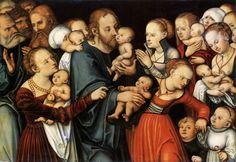 Lucas Cranach the Elder, Christ Blessing the Children