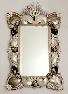 58 Awesome Sea-Inspired Furniture Pieces | DigsDigs This has to be the best ever shell mirror
