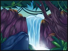 how to draw waterfalls