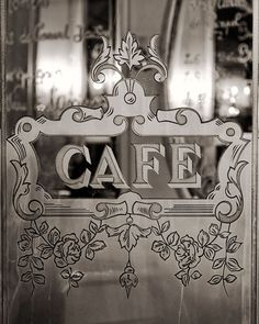 SALE, Paris Cafe Photo, Louis Phillipe, Paris Photography, Black and White, Window Typography, Kitchen Art