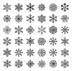 Winter Snowflakes Doodles - Icons - 2