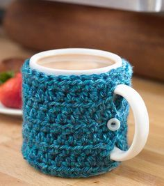 One Stitch Mug Cozy   Sweater Knit Mug Cozie   DIY Mug Instructions on Joann.com   Great gift idea!