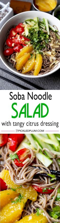 Soba Noodle Salad With Citrus Dressing - Healthy and cleansing soba ...