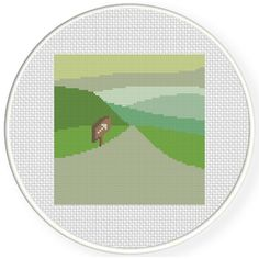 This Way Landscape Cross Stitch Pattern