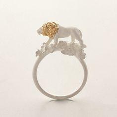Fancy - Lion Ring by Simmon Star Necklace, Heart Pendant Necklace, Heart Earrings, Cheap Jewelry, Jewelry Shop, Jewelry Accessories, Jewellery, Fine Jewelry, Animal Jewelry