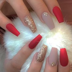 The Deep Winter Nail Art Designs are so perfect for Hope they can inspire . day nails simple manicures The Deep Winter Nail Art Designs are so perfect for Hope they can inspire . Prom Nails, Long Nails, Short Nails, Nails 2018, Gorgeous Nails, Pretty Nails, Cute Red Nails, Nice Nails, Fabulous Nails