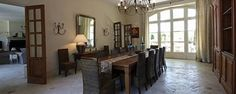 The spacious dining room at Mas des Platanes.