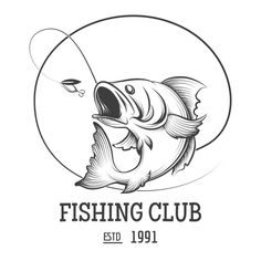 Fishing club logo by @Graphicsauthor
