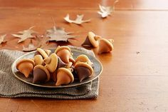 Try this delicious KISSES Acorn Treats, made with HERSHEY'S KISSES.