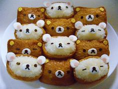 Bento Box Recipes: Rilakuma Character Inari-zushi Recipe