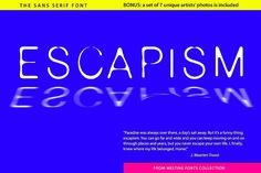 Escapism Sans Serif Font by GalaStudio on @Graphicsauthor