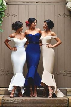 450cc253a7c Custom Made Outstanding 2019 Prom Dresses High Quality Mermaid Satin  Off-the-Shoulder Prom Dresses