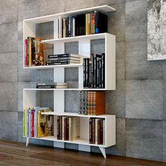 2017 Tasarım Modern Dekoratif Kitaplık Modelleri genelde sportif ve dikkat çekici çizgiler taşıyor. Bu sezon sizde evinizin bir odası için kitaplık modeli