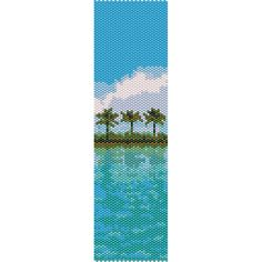 Tropical Island Peyote Bead Pattern, Bracelet Cuff, Bookmark, Seed Beading Pattern Miyuki Delica Size 11 Beads - PDF Instant Download by SmartArtsSupply on Etsy